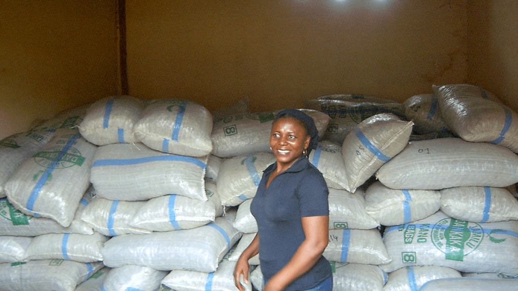 Karine, responsable de la collecte de nos produits au Togo, comme le Desmodium